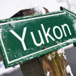 YUKON road sign — Stock Photo