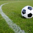 Soccer ball on field — Stock Photo #20763465