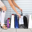 Girl with bunch of shopping bags — Stock Photo #20767483