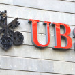 ZURICH - NOVEMBER 1: UBS, Switzerland's largest bank. Swiss bank — Stock Photo #20768513