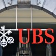 ZURICH - NOVEMBER 1: UBS, Switzerland's largest bank. Swiss bank - Stock Photo