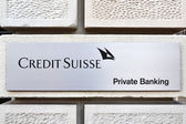 ZURICH - JANUARY 2013:Credit Suisse is the second-largest Swiss — Stock Photo