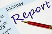 Note de rapport dans l'ordre du jour — Photo