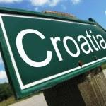 Croatia road sign — Stock Photo