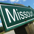 Stock Photo: Missouri road sign