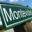 MONTEVIDEO road sign — Stock Photo