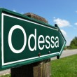 ODESSA signpost along a rural road - Stock Photo