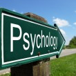 Постер, плакат: Psychology signpost along a rural road