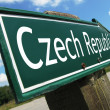 Czech Republic road sign - Stock Photo