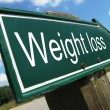 Foto Stock: Weight loss road sign