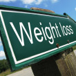 Weight loss road sign — Stock Photo