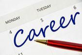 Uwaga kariera w kalendarzu — Zdjęcie stockowe