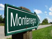 Montenegro signpost along a rural road — Stock Photo