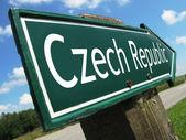 Czech Republic road sign — Stock Photo