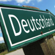 Deutschland road sign — Stock Photo