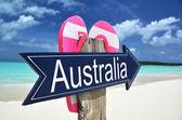 Australia sign on the beach — Zdjęcie stockowe