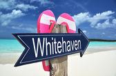 Whitehaven plaj işareti — Stok fotoğraf