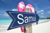 Samui sign on the beach — Stock Photo