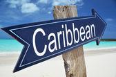 Caribbean arrow on the beach — Stock Photo
