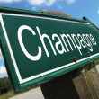 Champagne road sign — Stock Photo #24770015