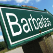 Barbados road sign — Stock Photo