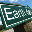 Stock Photo: Earth Day road sign