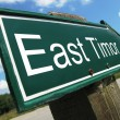 Stock Photo: East Timor road sign