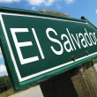 El Salvador road sign — Stock Photo #24770315
