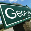 Georgia road sign — Stock Photo