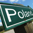 Stock Photo: Poland road sign
