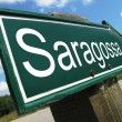 Saragossa road sign — Stock Photo