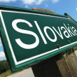 Slovakia road sign — Stock Photo