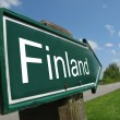 Finland signpost along rural road — Stock Photo #24771353