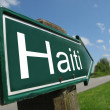 Haiti signpost along a rural road — Stock Photo