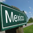Mexico signpost along a rural road — Stock Photo