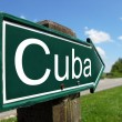 Cuba arrow signpost along a rural road — Stock Photo
