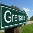 Grenada signpost along a rural road — Stock Photo