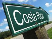 Costa Rica road sign — Stock Photo
