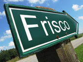 FRISCO road sign — Stock Photo