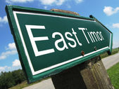 East Timor road sign — Stock Photo