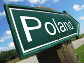 Poland road sign — Stock Photo