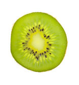 Kiwi fruit slice. White background, isolated — Stock Photo