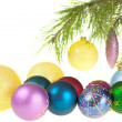 Christmas balls on a white background, isolated — Stock Photo