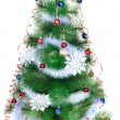 Christmas tree on a white background, isolated — Stock Photo
