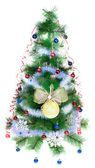 Christmas tree on a white background, isolated — 图库照片