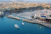 Barcelona sea view — Stockfoto