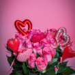 Bouqet of roses - valentines day — Stock Photo