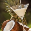 Stock Photo: Cocktail from coconut and pineapple
