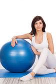 Mujer haciendo ejercicio fitness — Foto de Stock