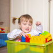 Child playing at home — Stock Photo